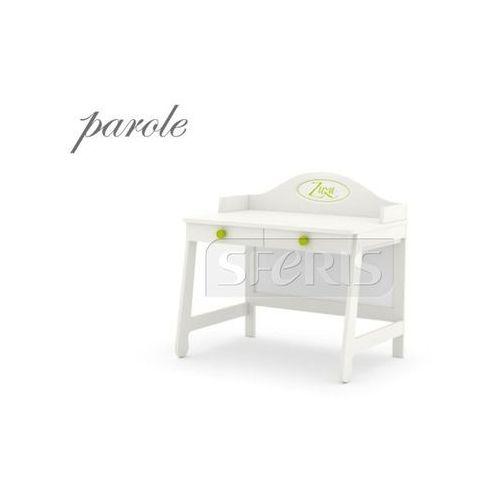 Pinio parole biurko mdf białe - zielony uchwyt - 016-505-113 wyprodukowany przez Drewnostyl pinio