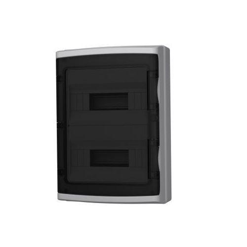 Marlanvil spa Rozdzielnica natynkowa hight ip65 24 (12+12) modułowa transparentne drzwi 940.24.1 m-l 1457 (8017521091457)