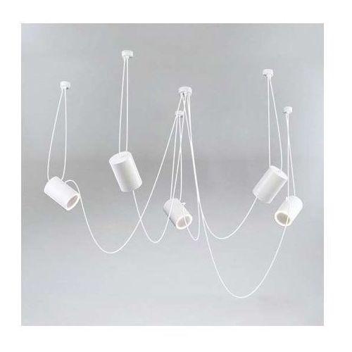 Shilo Lampa wisząca dubu 9028/e14/bi modernistyczna oprawa metalowy zwis tuby białe