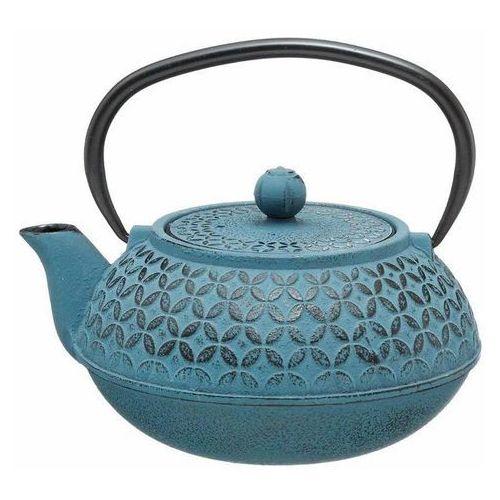 Secret de gourmet Czajniczek do herbaty z zaparzaczem wykonany w kolorze niebieskim dla miłośników herbaty. (3560239313106)
