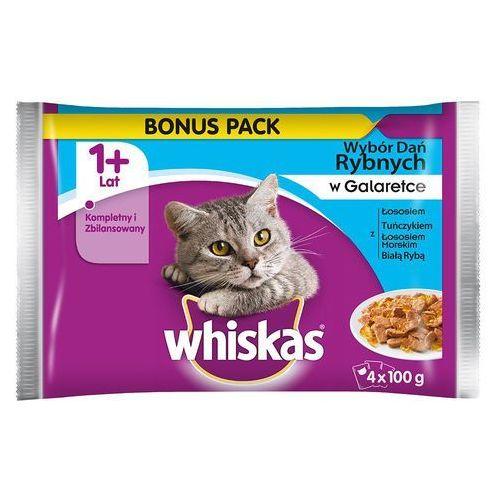 Whiskas  1+ saszetki, 4 x 100 g - mięso w galarecie (8410136216763)