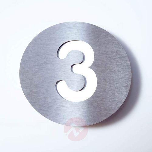 Tabliczka z numerem domu round, stal szl. – 3 marki Absolut/ radius