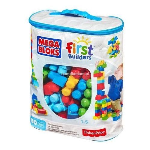 Mega Bloks Klocki 80 el. torba niebieska