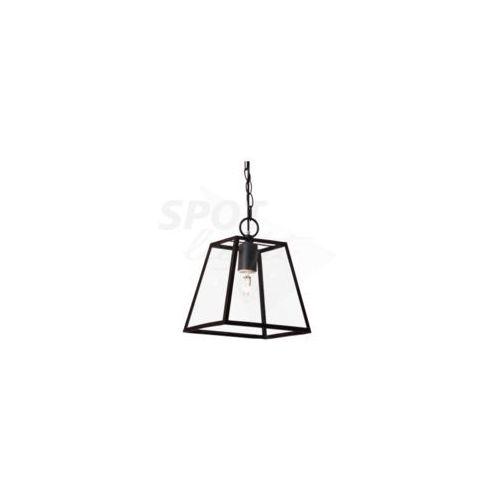 SPOT-LIGHT AMATA Zwis 1XE27, 60W, czarny/transparentny, metal/szkło, 275x275x1100 mm 1370104, 1370104