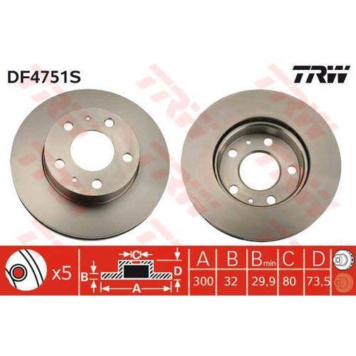 TARCZA HAM TRW DF4751S CITROEN JUMPER 2.2HDI, 3.0HDI 06-/ FIAT DUCATO 2.3D 120MJ 06- (3322937928712)