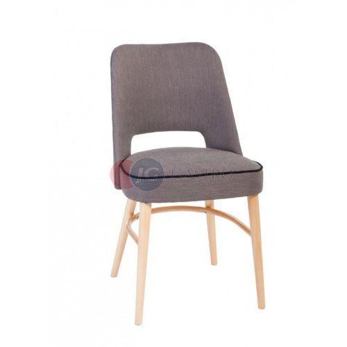 Paged Krzesło bez podłokietnika z guzikami buk a-0042g