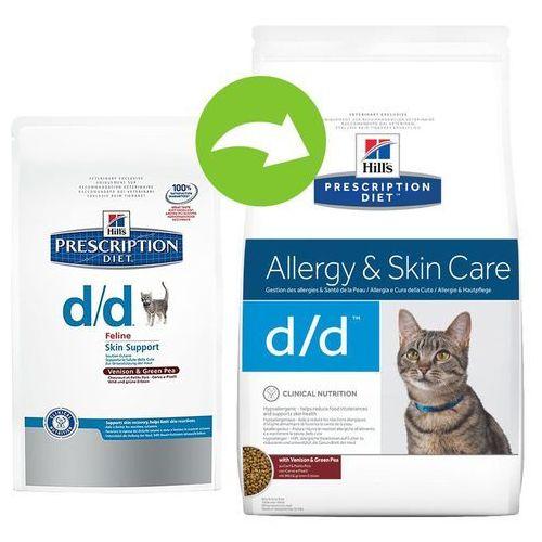 feline d/d - alergie pokarmowe - 2 x 1,5 kg marki Hills prescription diet