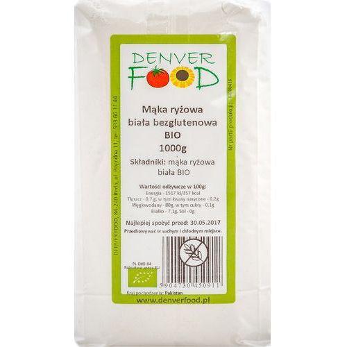 Denver food Mąka ryżowa biała bezglutenowa 1kg - eko