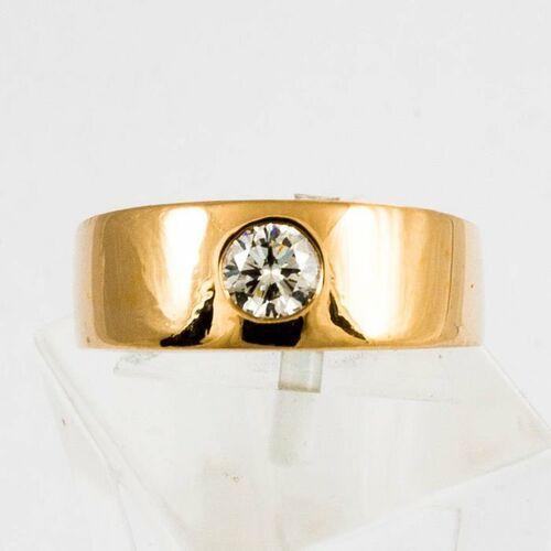 Złoty pierścionek z diamentem P1539, kolor żółty