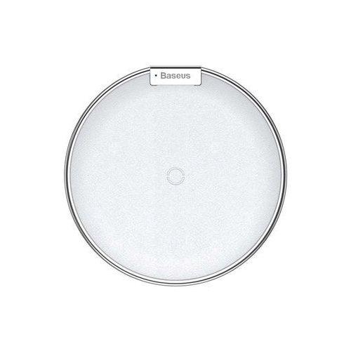 Ładowarka indukcyjna Baseus iX QI bezprzewodowa biało-srebrna - Biały (6953156268289)