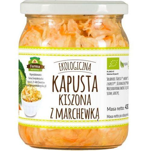 Farma świętokrzyska (przetwory owoc.-warz.,chleby Kapusta kiszona z marchewką bio 430 g (365 g) - farma świętokrzyska