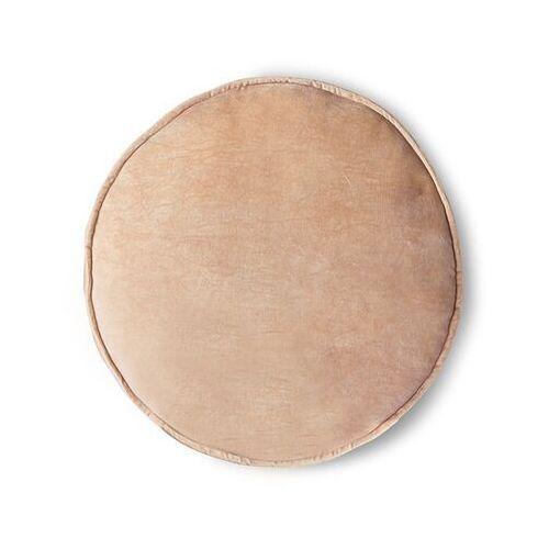 Hkliving poduszka/siedzisko velvet brzoskwiniowa ø 60 tku2109 (8718921036429)