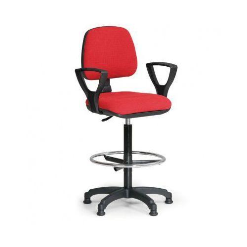 Podwyższone krzesło milano z podłokietnikami - czerwone marki B2b partner