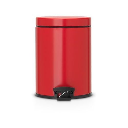 Brabantia - Kosz pedałowy Classic - wiaderko plastikowe – 5L - Czerwony Passion
