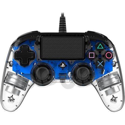 Big ben Kontroler nacon compact controller przezroczysty niebieski do ps4 (3499550360806)