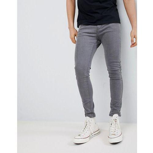 super skinny fit jeans in grey - grey, Bershka
