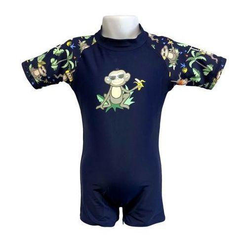 Strój kąpielowy kombinezon dzieci 84cm filtr UV50+ - Navy Jungle \ 084cm (9330696049917)
