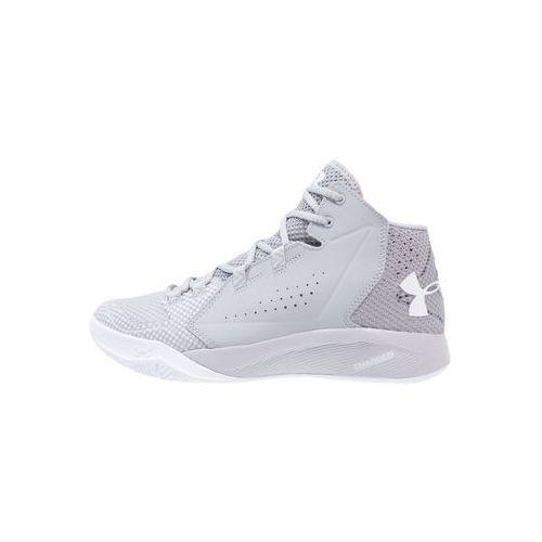 Under Armour TORCH FADE Obuwie do koszykówki gray wolf/aluminum/white - produkt z kategorii- Koszykówka