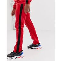 Weekday Local velour joggers in red - Red, kolor czerwony