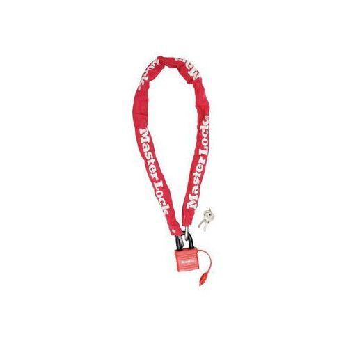 Master lock Zapięcie rowerowe masterlock quantum 8390 łańcuch 6mm 40mm 90cm kluczyk czerwony