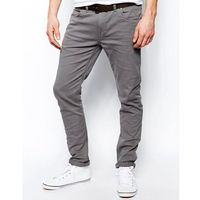 drake slim fit jean in grey twill - grey marki Farah
