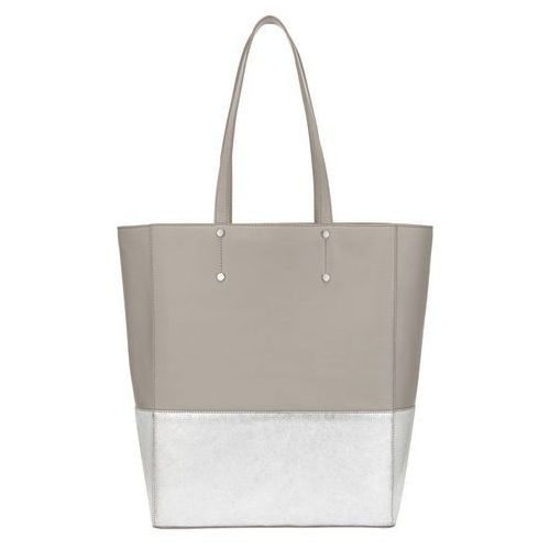 Phase Eight Lucy Metallic Leather Tote, kolor szary