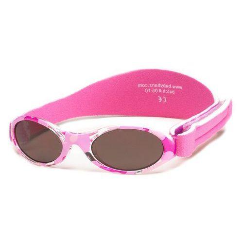 Okulary przeciwsłoneczne dzieci 2-5lat UV400 BANZ - Pink Camo (9330696003742)