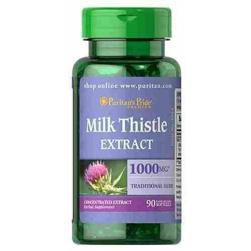 milk thistle 4:1 extract 1000mg - 90soft gels marki Puritan's pride