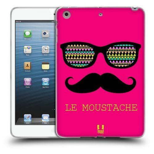 Etui silikonowe na tablet - moustaches pink le marki Head case