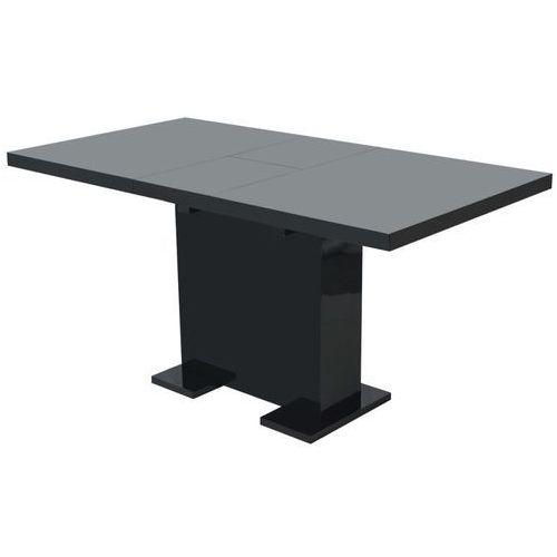 Vidaxl stół do jadalni rozkładany, lśniący czarny (8718476007868)