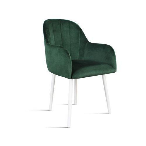 B&d Krzesło besso zielony/ noga biała/ so260