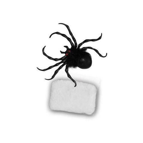 Plastikowy Pająk 12cm z pajęczyną (8434077197974)