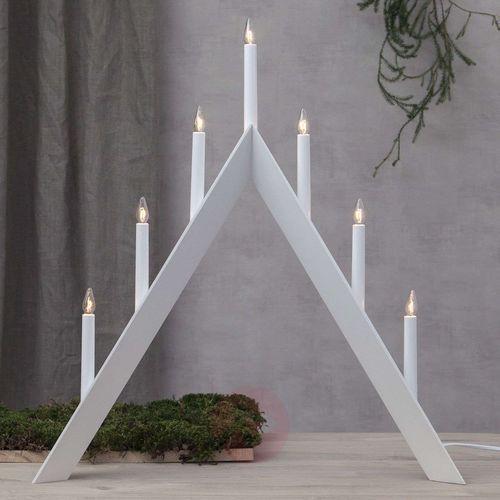Świecznik Arrow, szpiczasty, 7-punktowy, biały (7391482033406)