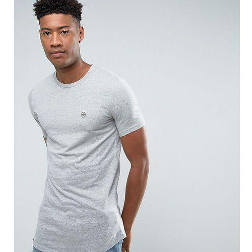 tall logline curved hem marl t-shirt - grey marki Le breve