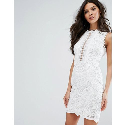 sleeveless with floral and crochet detail - white marki River island