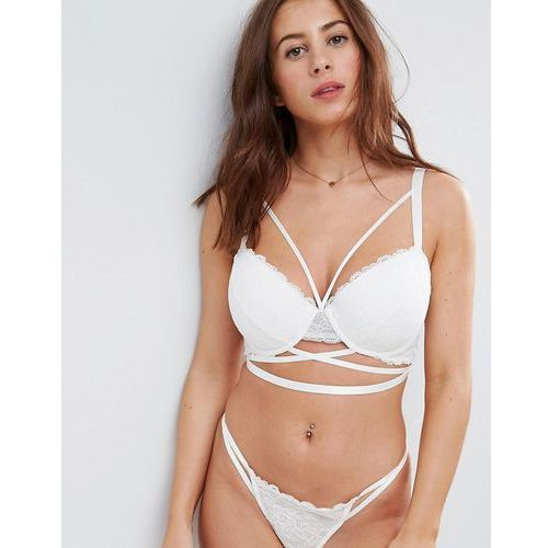fuller bust becca strappy lace moulded bra - white, Asos