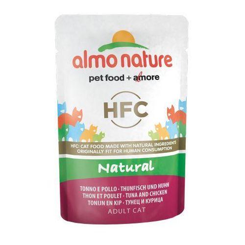 Almo nature hfc natural tuńczyk z kurczakiem w naturalnym sosie 6x55g