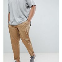 River Island Big & Tall Slim Chinos In Tan - Tan, chinosy