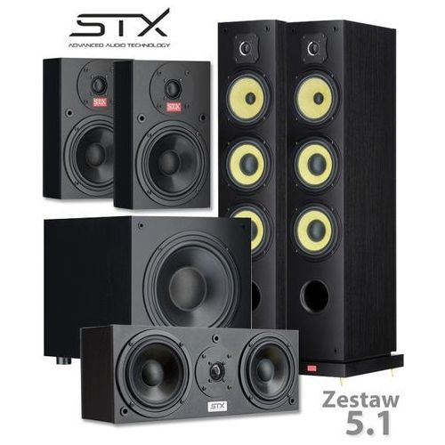 Zestaw kolumn kina domowego STX 5.1 - FS-250n, E-200n, C-200n, S-250n