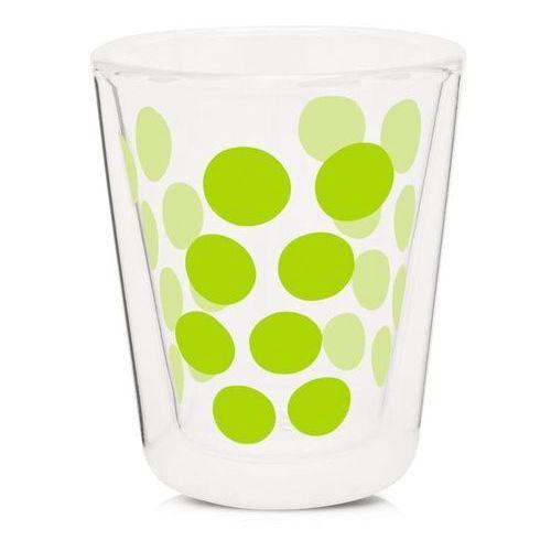 Zak!designs Zak! designs - szklanka 200 ml z podwójnymi ściankami - zielona