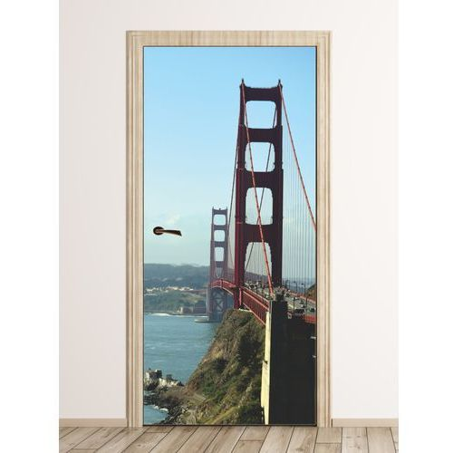 Wally - piękno dekoracji Fototapeta na drzwi widok na most golden gate fp 6128