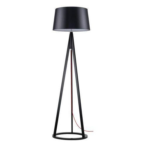 Lampa podłogowa Konan czarny/czerwony/czarny E27 60W (5901602336946)