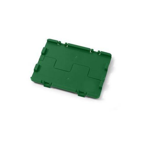 Składana pokrywa z zawiasami, opak. 4 szt., dł. x szer. 300x200 mm, zielony. Łat