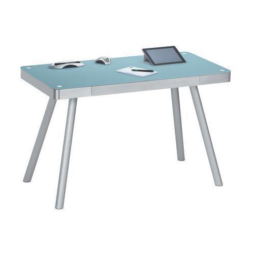 Maja-möbel Biurko, stół do pracowni alu metal niebieskie, połysk 50009406