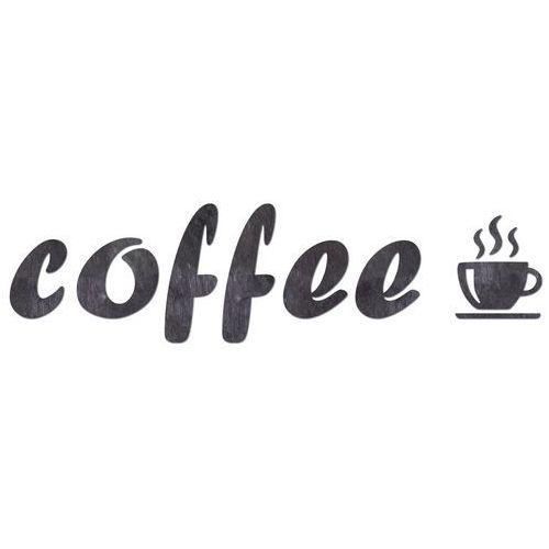 Dekoracja drewniana napis na ścianę Coffee - 6 mm (5907509933516)