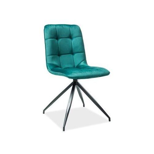 Signal meble Krzesło texo zielony aksamit