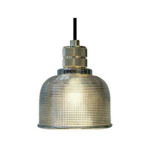 Industrialna lampa wisząca ambra szklana oprawa loftowy zwis złota przezroczysta marki Orlicki design