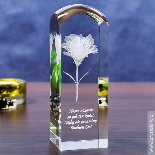 Goździk 3D • personalizowany kryształ 3D wysoka, zaokrąglona • GRAWER 3D