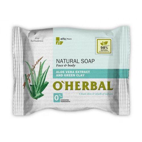 Elfa pharm O'herbal - naturalne mydło z ekstraktem z aloesu i zieloną glinką 100g (5901845503556)