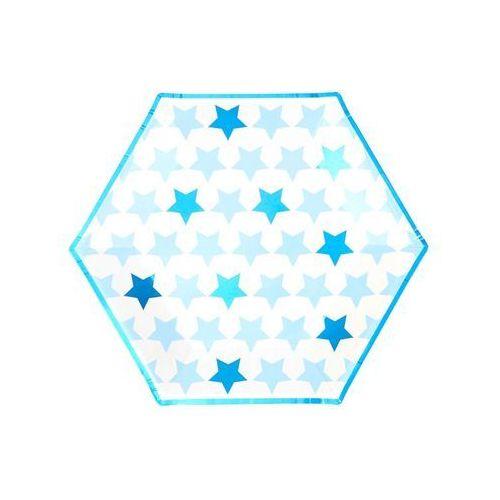 Talerzyki papierowe gwiazdki niebieskie - 27 cm - 8 szt. marki Neviti